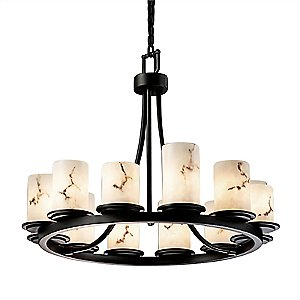 LumenAria Dakota 12 Light Chandelier by Justice Design